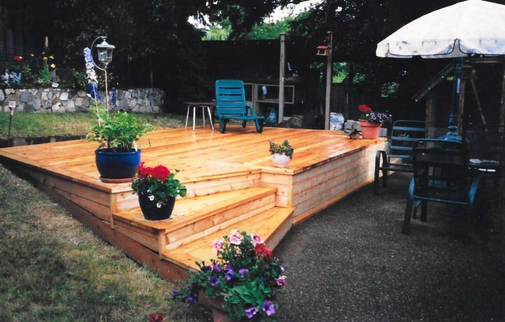 beautiful cedar decks